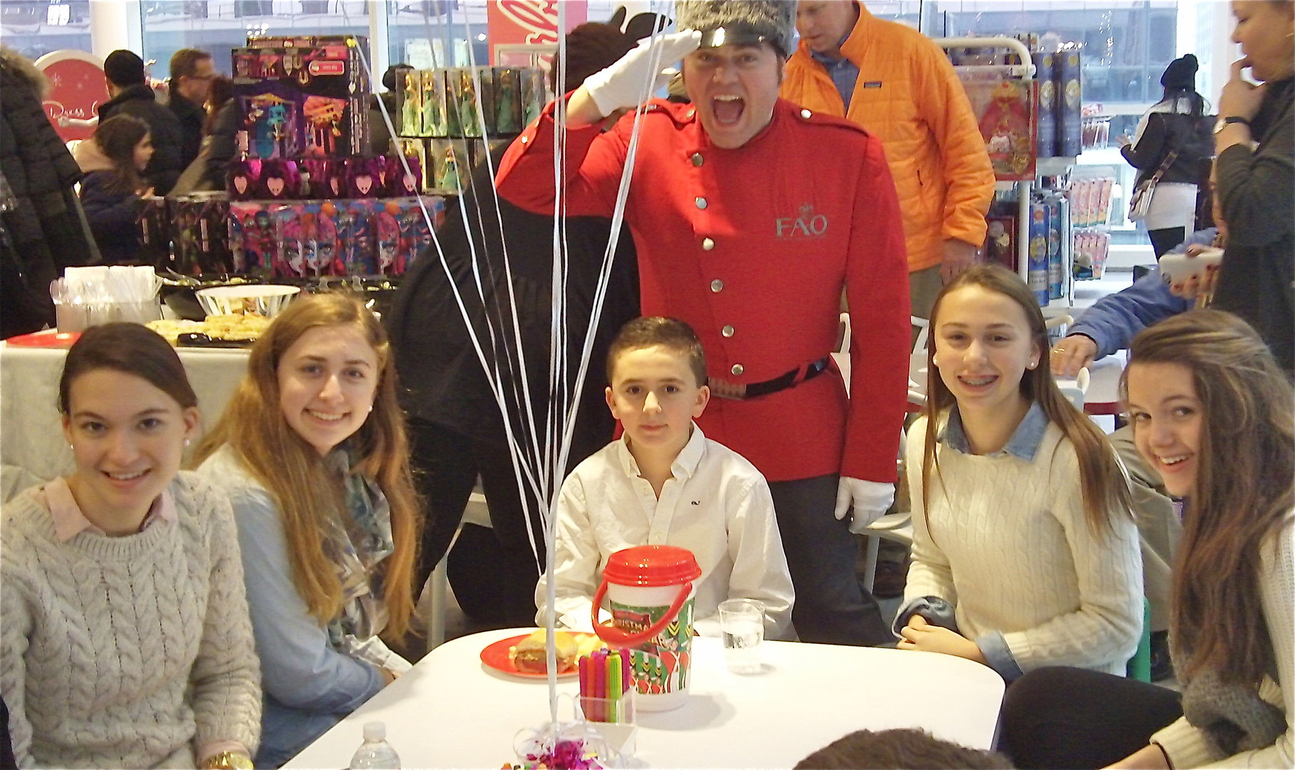 Ellie, Emma, Stuart 3d, Eric the FAO soldier, Gabby, Kate