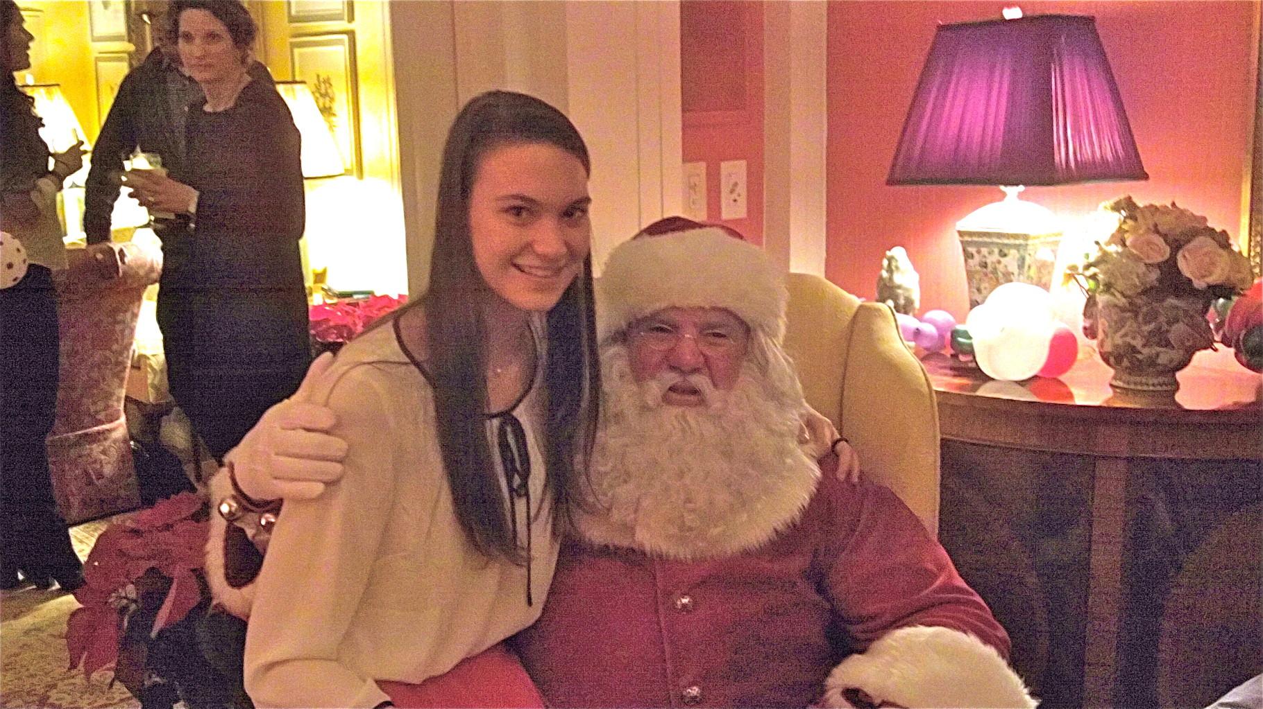 Ellie K. & Santa