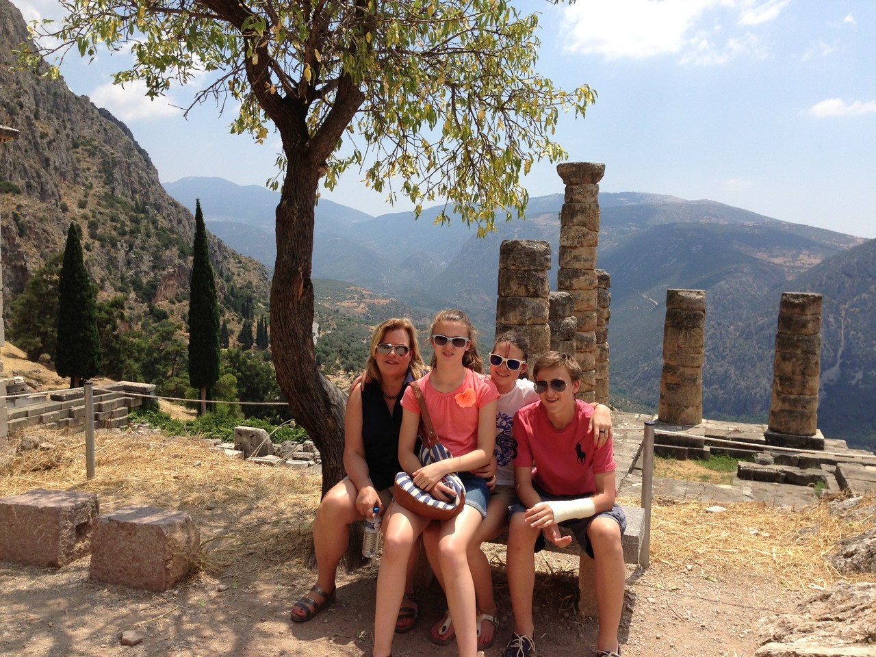 Celeste & family visit Delphi, Greece