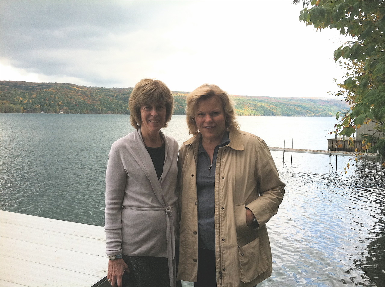 Nancy Hynes & Celeste Gudas, Skaneateles Lake Oct.. 6, 2012