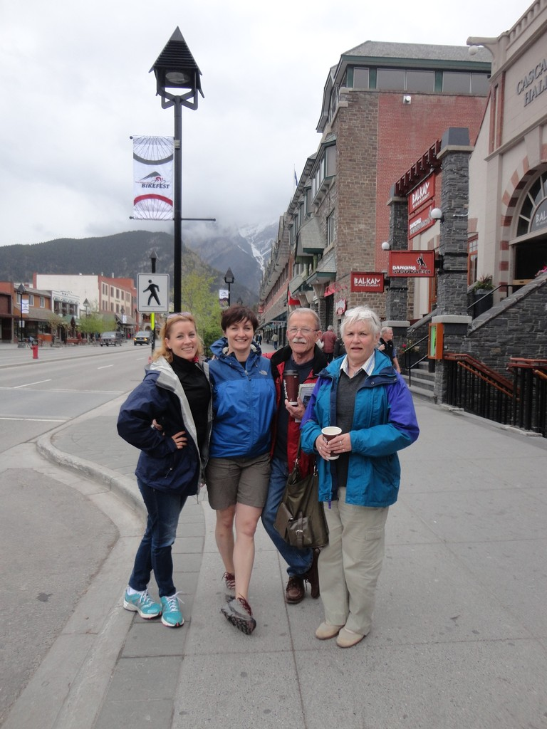 Emily, Wendy, Barry, and Susan Barner, western Canada, 5-2013; Susan is Lorraine & Celeste's first cousin