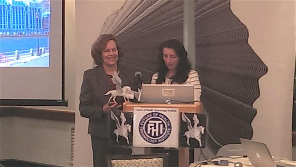 Lorraine wins Future of Health Technology Award, May 2013, MIT Boston, MA