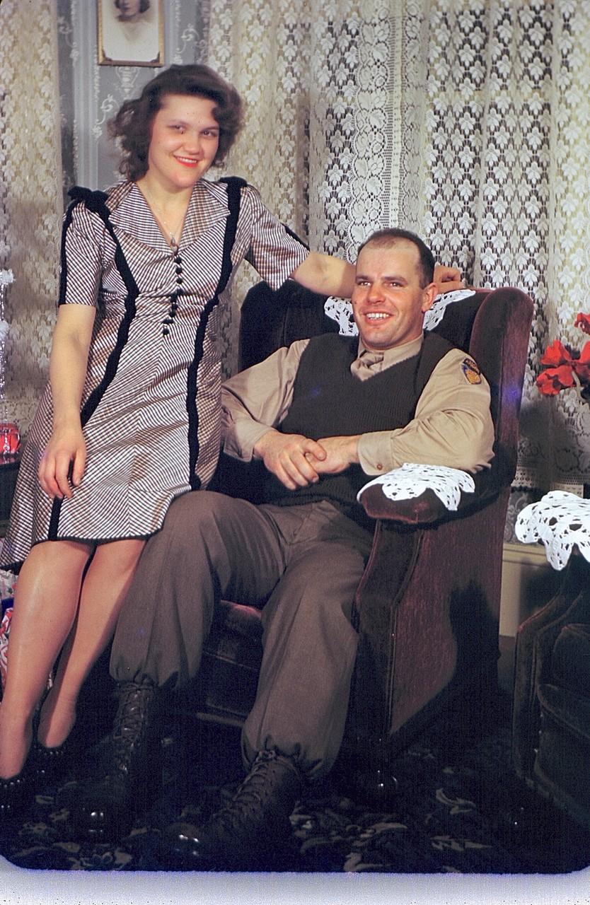 Dotty & Frankie Gudas (some brothers shortened the name from Gudeczauskas to Gudas) 1940s