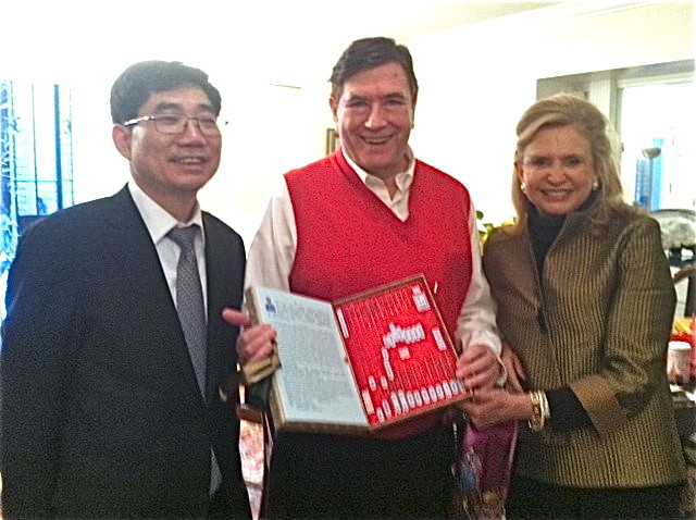 John with Rep. Carolyn Maloney at her house, Feb. 2015