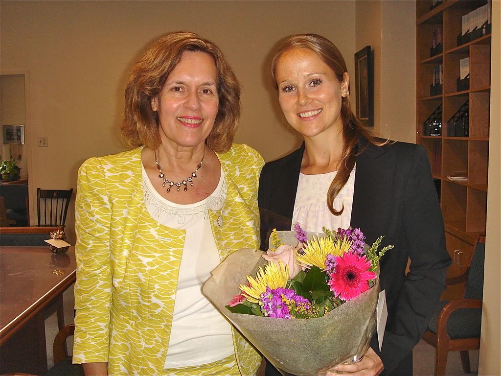 Dr. Lorraine Gudas and Dr. Megan Ricard-Place!  7/20/2012