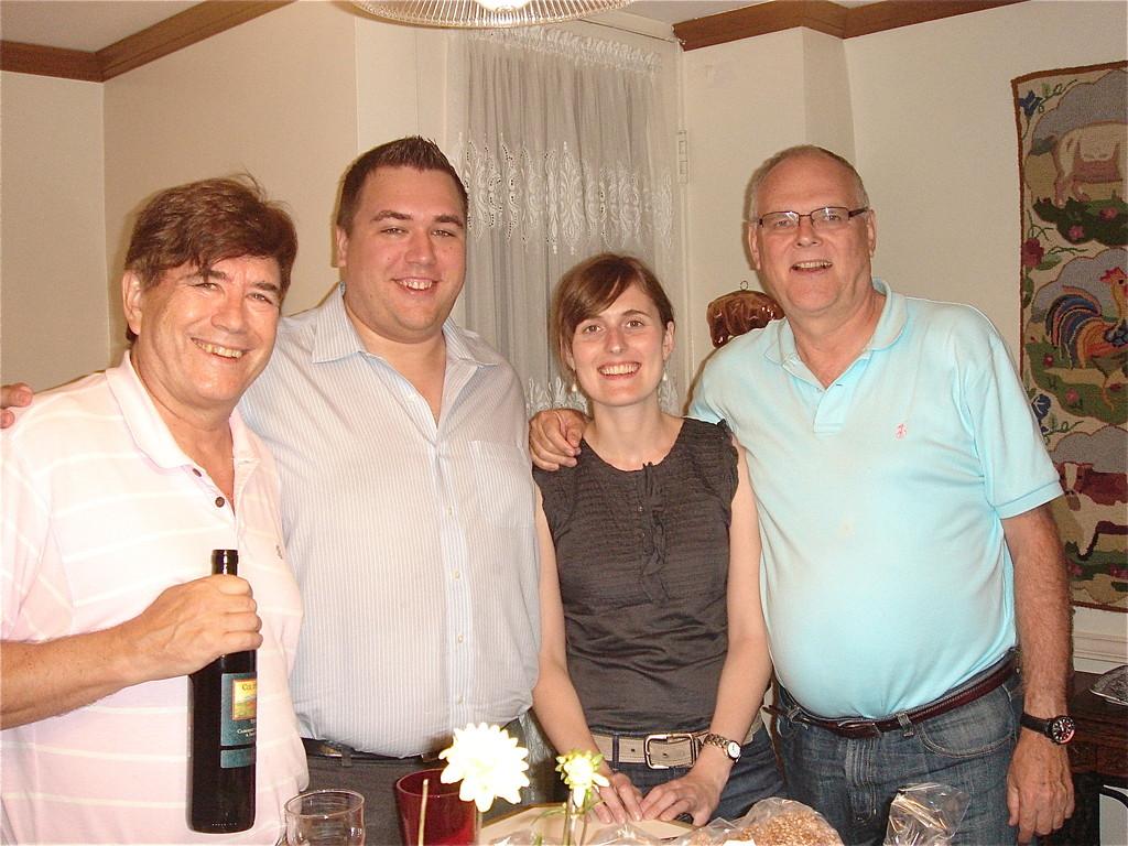 John, Greg Wagner, Anna & Bernd Groner  9-6-2012 NYC