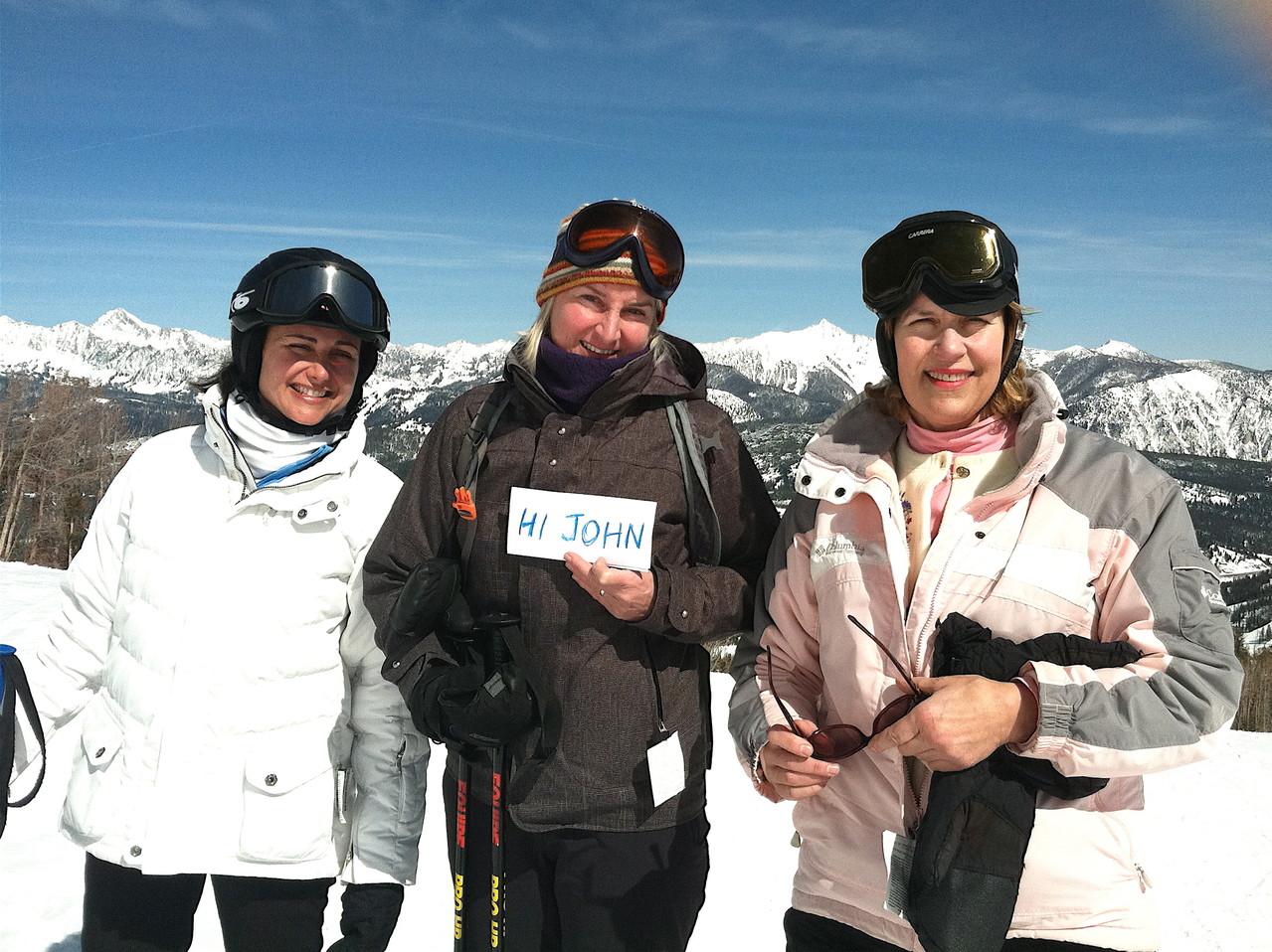 Allie, John's cousin Kathy Schmidt, & Lorraine Gudas Big Sky 2013
