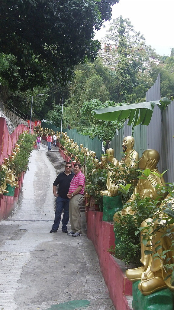 Ten Thousand Buddhas Monastery (Man Fat Tsz) is a Buddhist temple in Sha Tin, Hong Kong. It is located at 220 Pai Tau Village, Sha Tin.