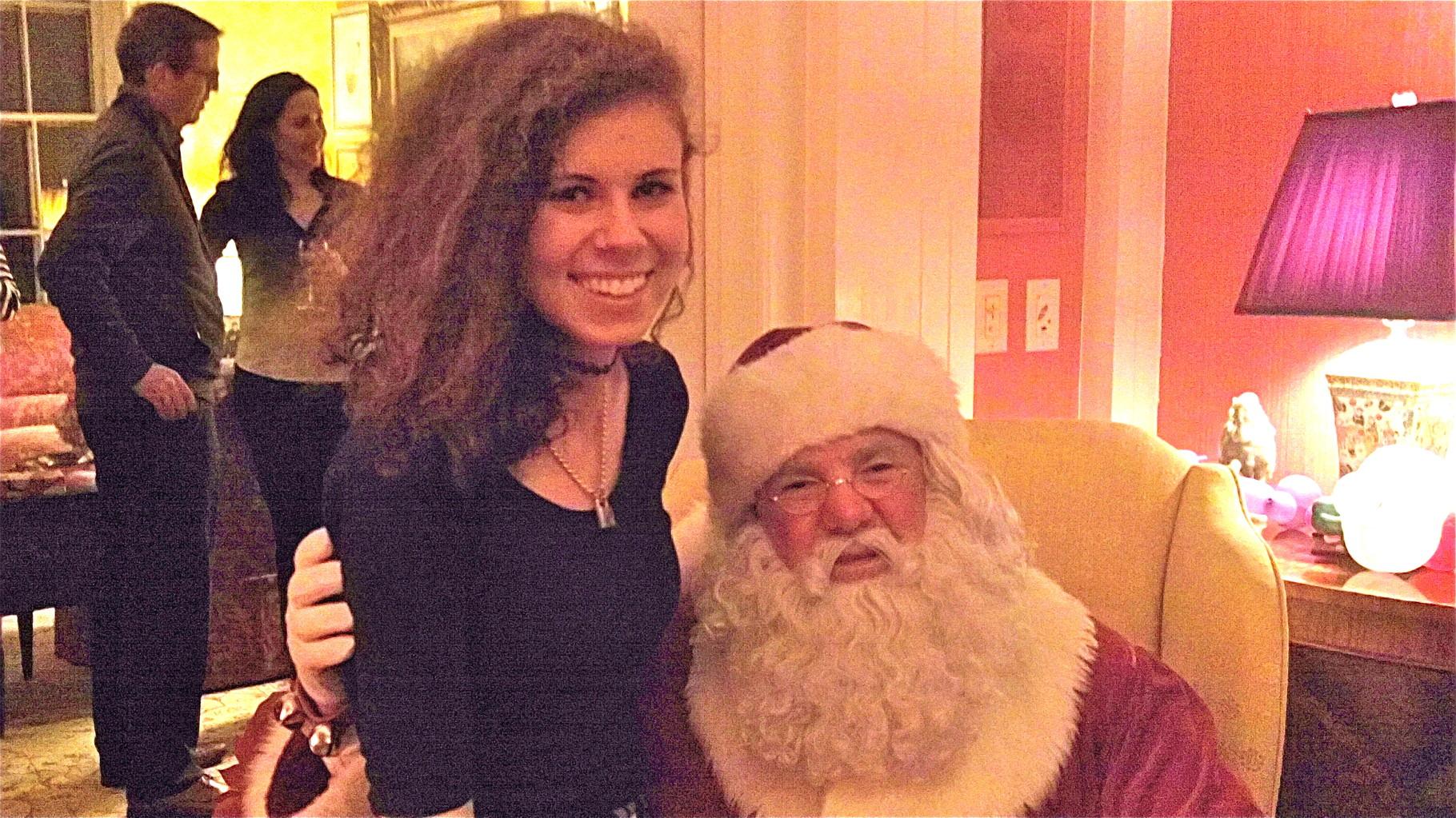 Erin Kagel & Santa