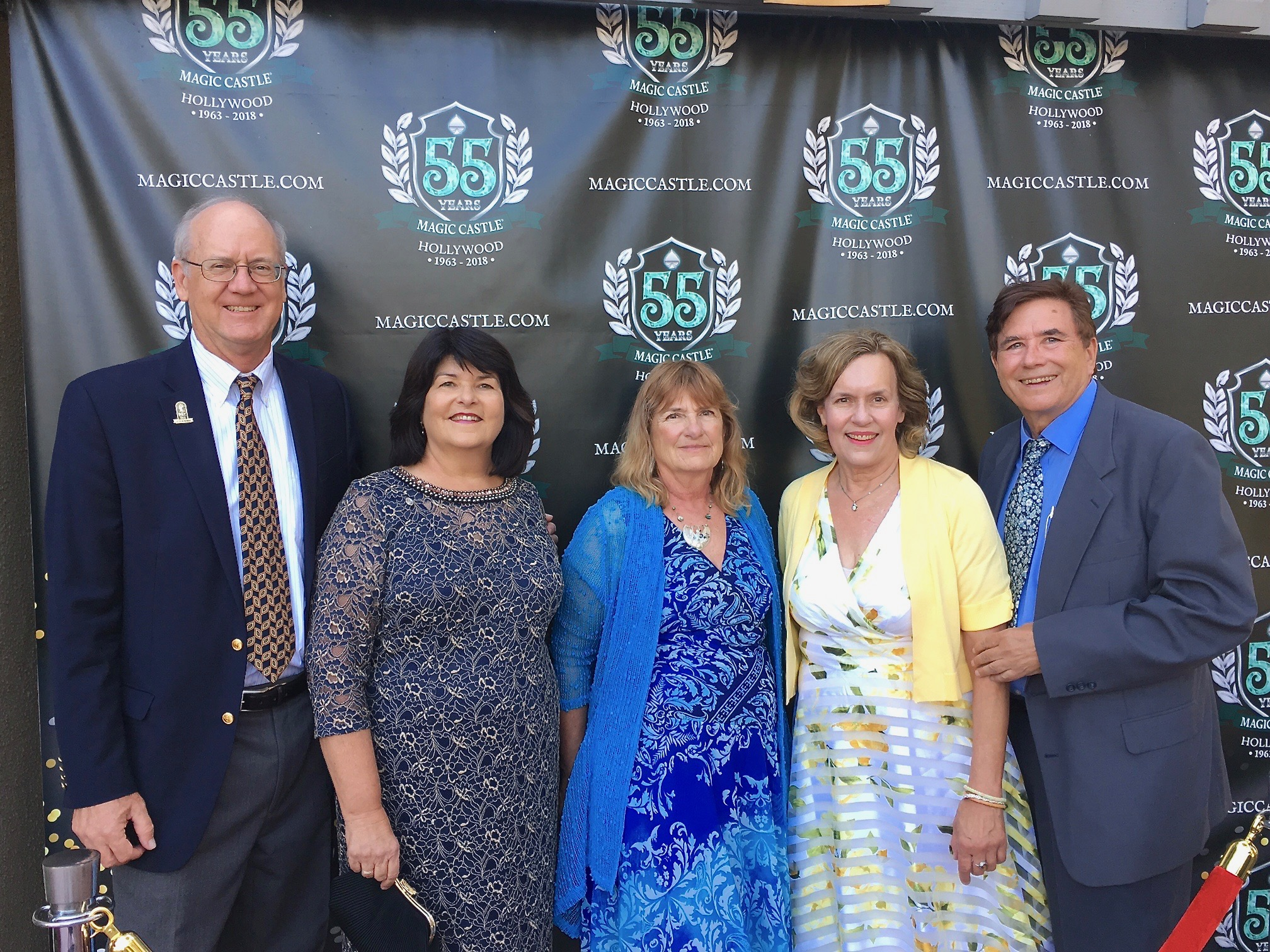 Dave, Laura, Carol, Lorraine Gudas, & John Wagner, at the Magic Castle, LA, Aug. 2018