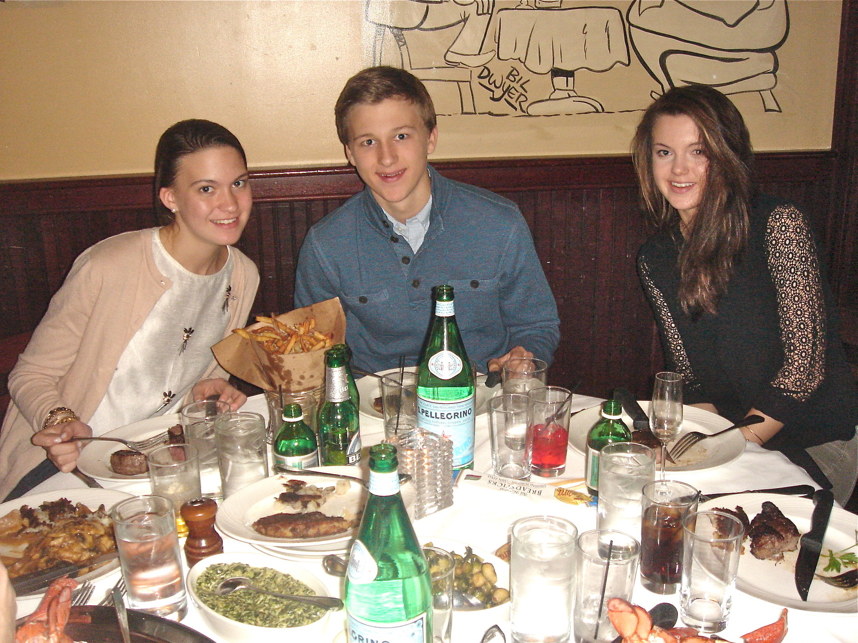 Ellie, Jack & Kate 2-28-15 Birthday Dinner at Palm