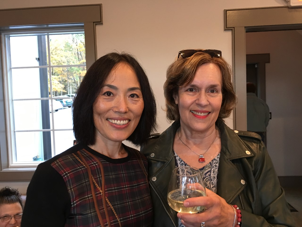 Sang Milea & Lorraine Gudas at the winery opening