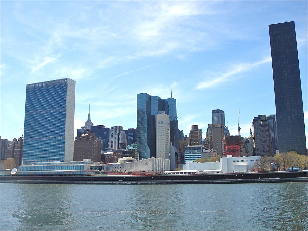 The UN and East River, 4-21-2013