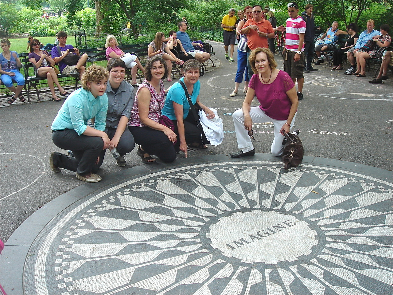 Kathleen, Emilea, Ann, Cindy, & Lorraine Gudas Strawberry Fields, NYC 6-16-2013