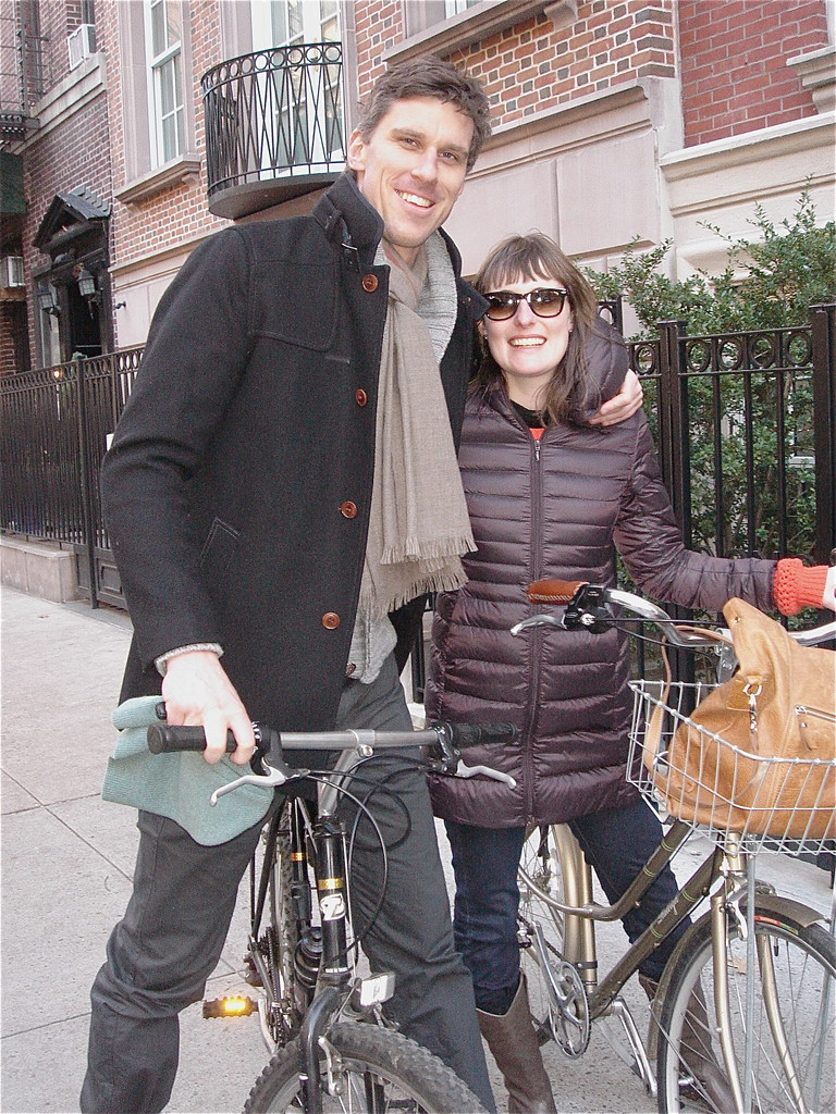 Patrick & Anna on their bikes!
