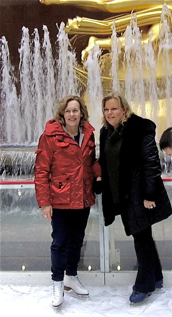 Skating at Rockefeller Center, Lorraine & Celeste