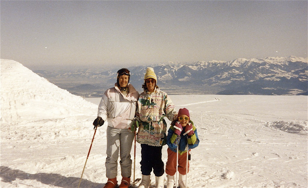 Lorraine, Nancy, Anna around 1990, Switzerland