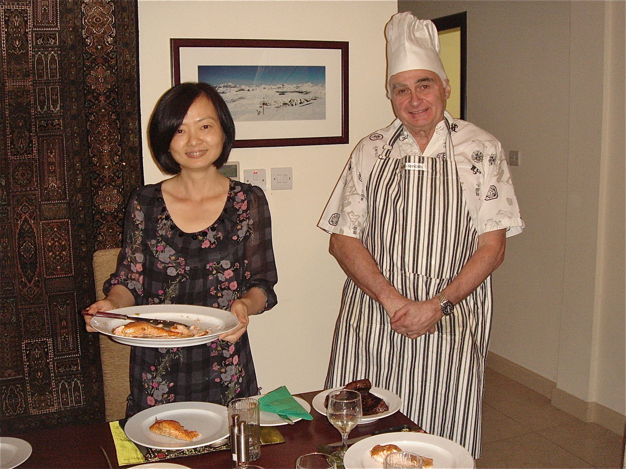 Hong Ding & Chris Triggle prepare dinner