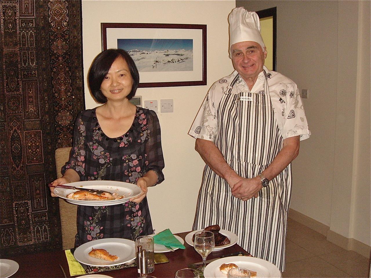 Hong Ding & Chris Triggle prepare dinner