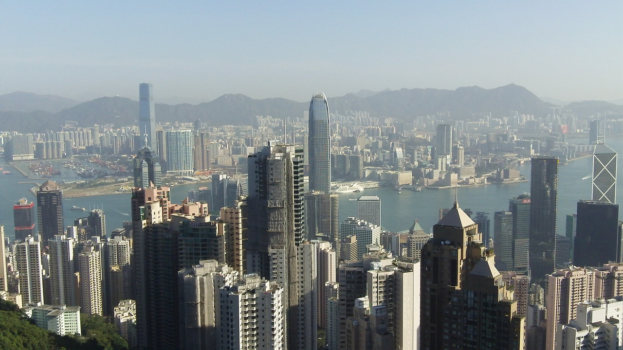 View of Central Hong Kong from Victoria's Peak