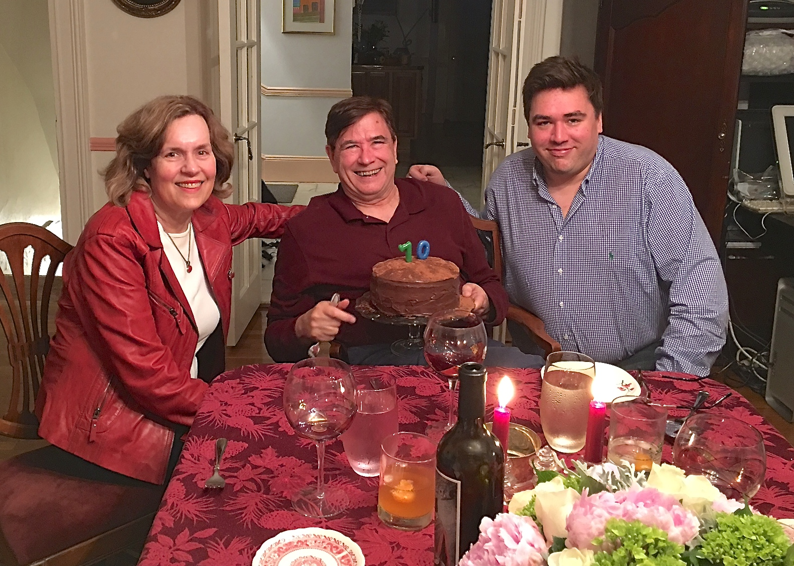Lorraine, John, & Greg on John's B'day, 2018