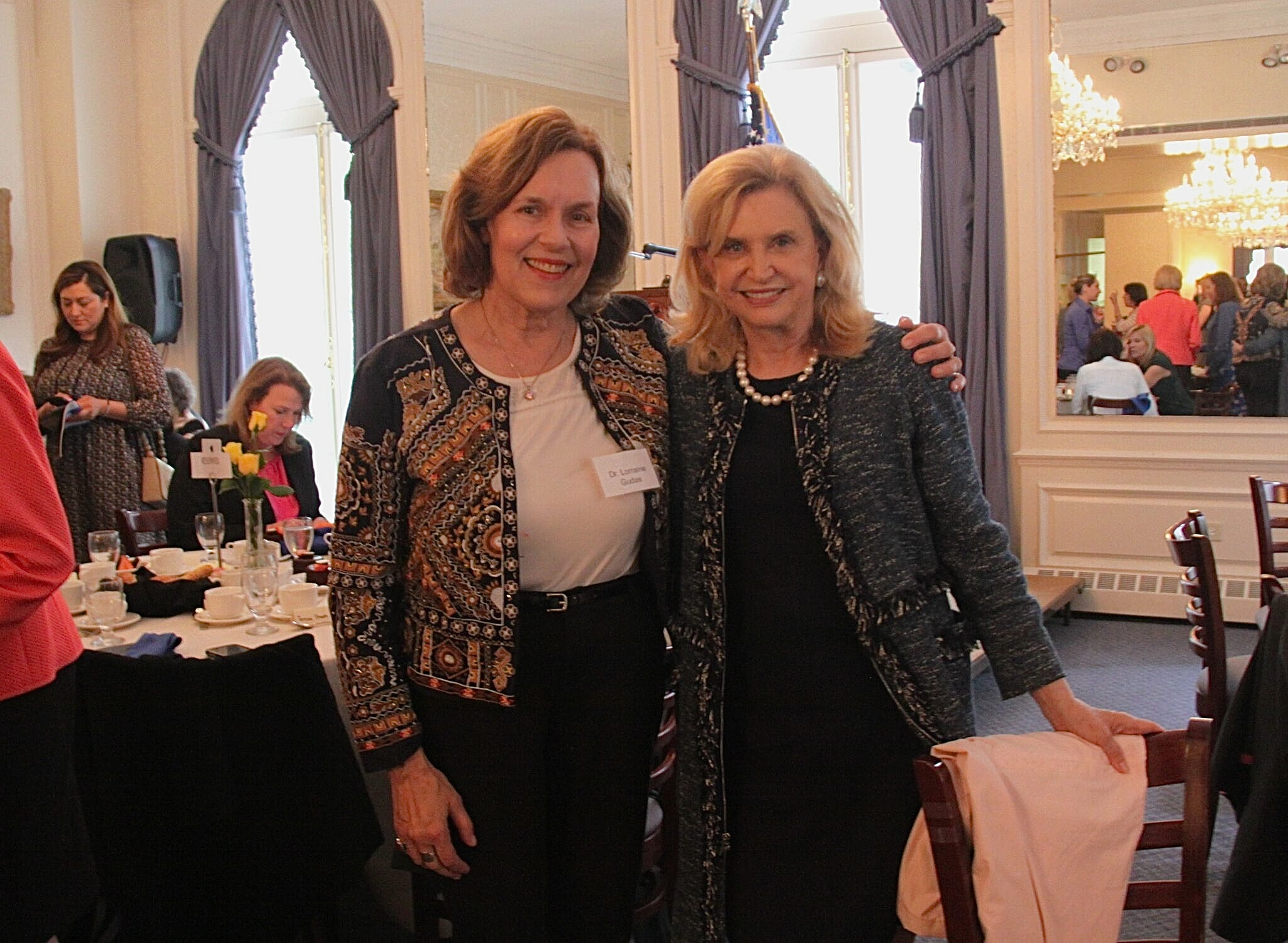Lorraine & Rep. Carolyn Maloney, June, 2017