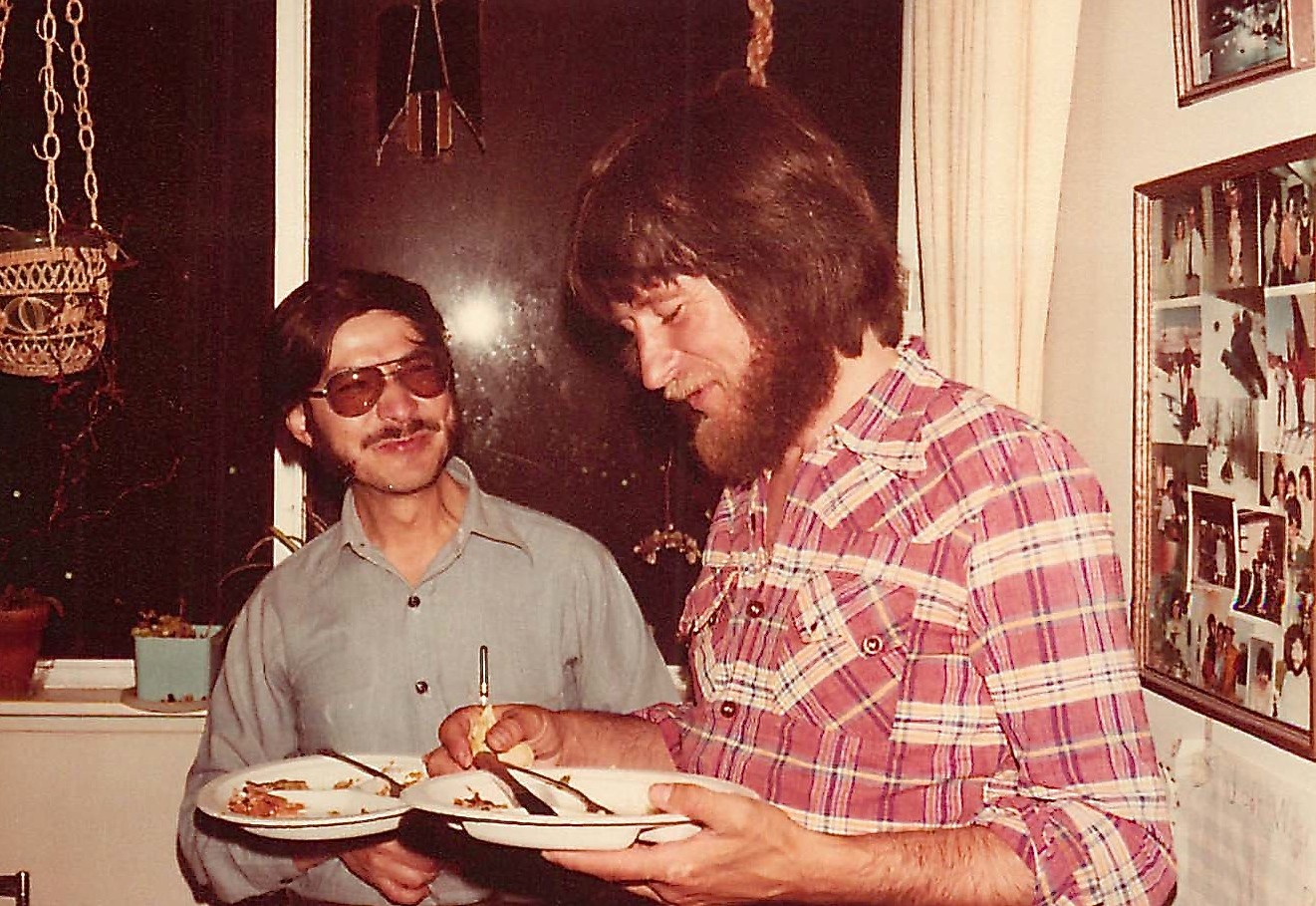 Ignacio & Reg Kelly, 1978, party for Ignacio