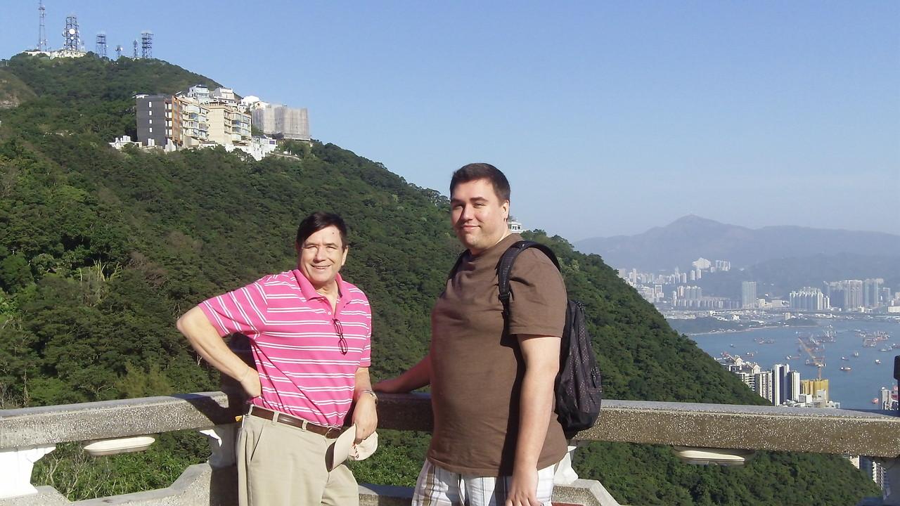 John & Greg, Victoria's Peak, HK