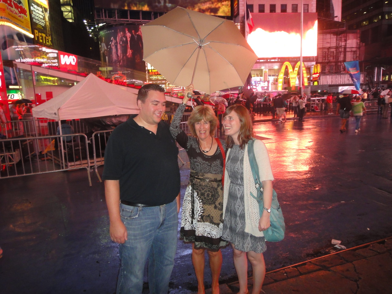 Greg, Nancy, & Anna on Broadway