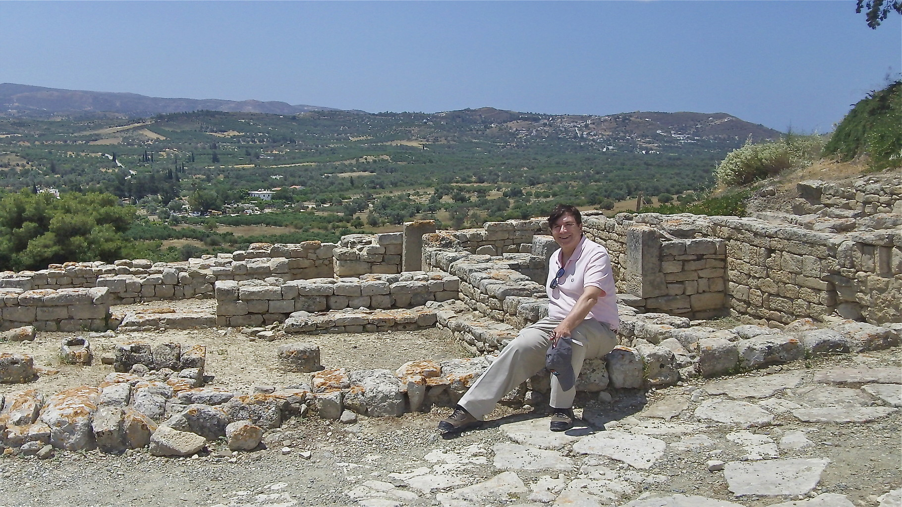 John at the Minoan Palace at Phaestos, Crete