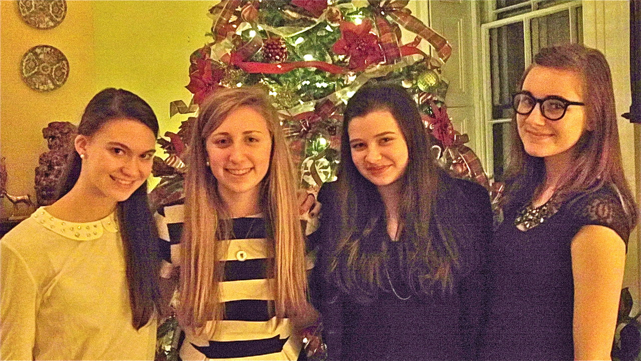 Ellie Kagel, Emma Kagel, Molly Donohue, & Lily  Dec. 24th, 2013