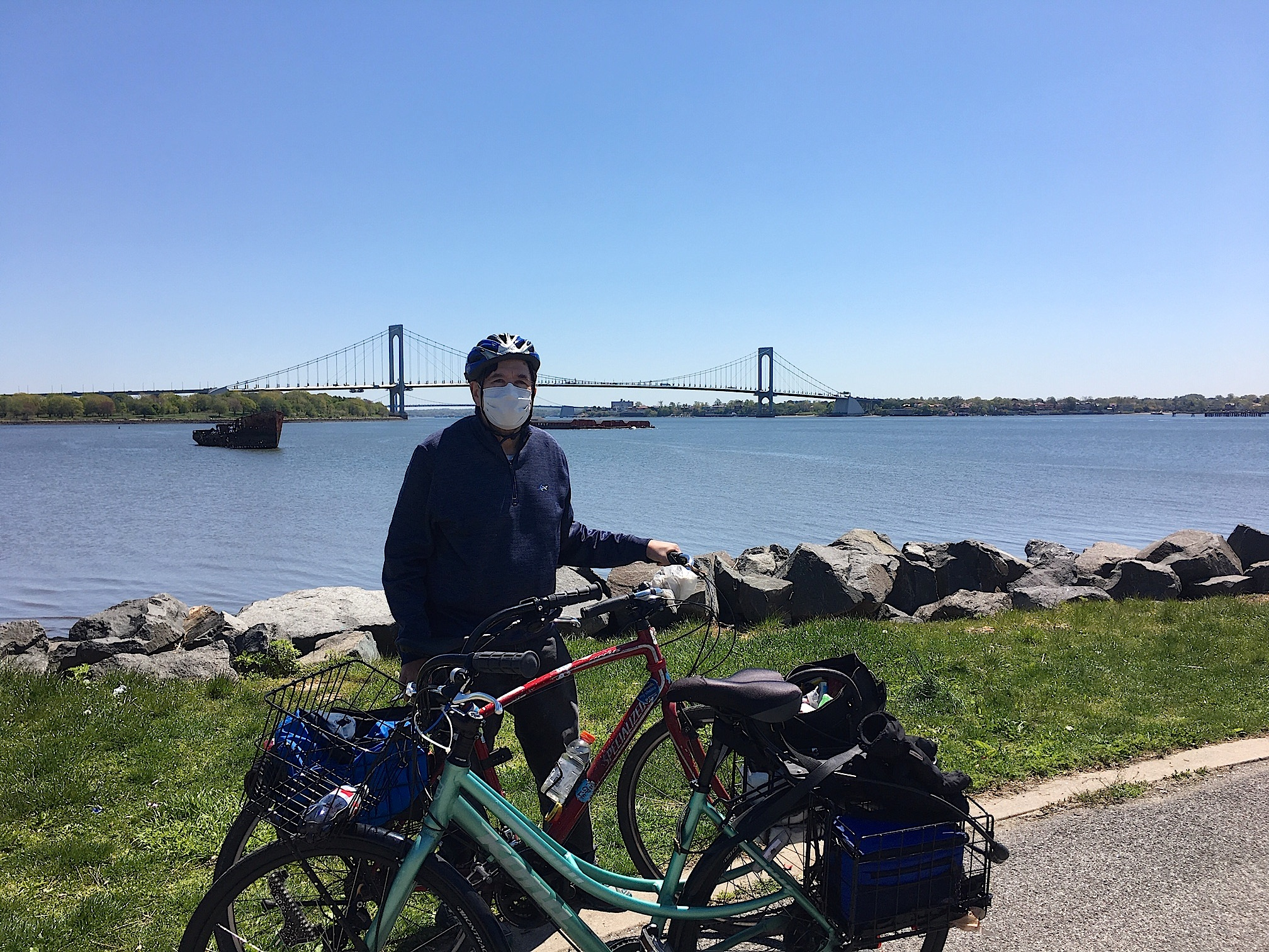 John in front of the Whitestone Bridge