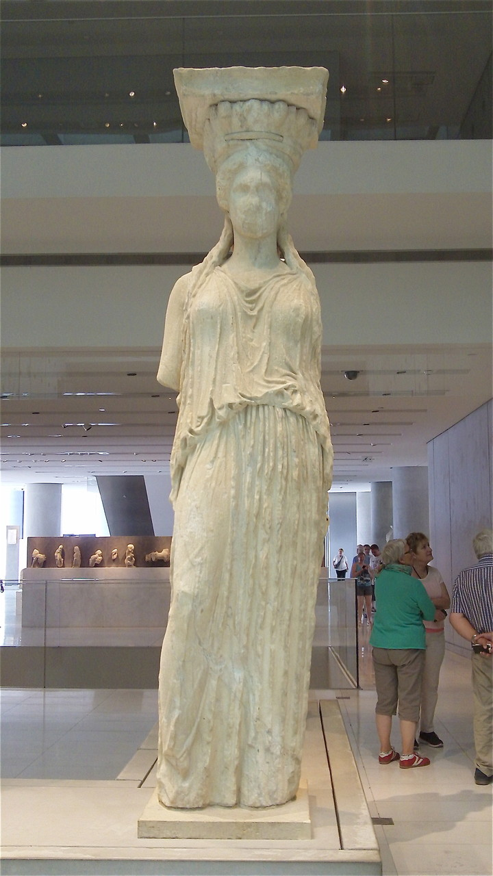 One of the Caryatids from the Erechtheion, Acropolis