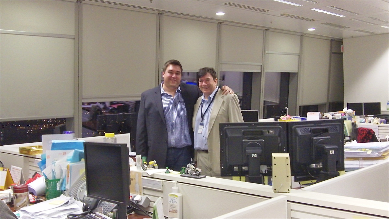 Greg & John in Greg's office, HK