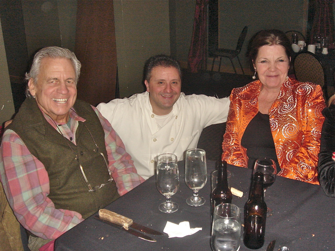 Gentile's Rest.  Syracuse, NY  Stuart Kagel Sr., the chef, Kevin; & Jean Tringle