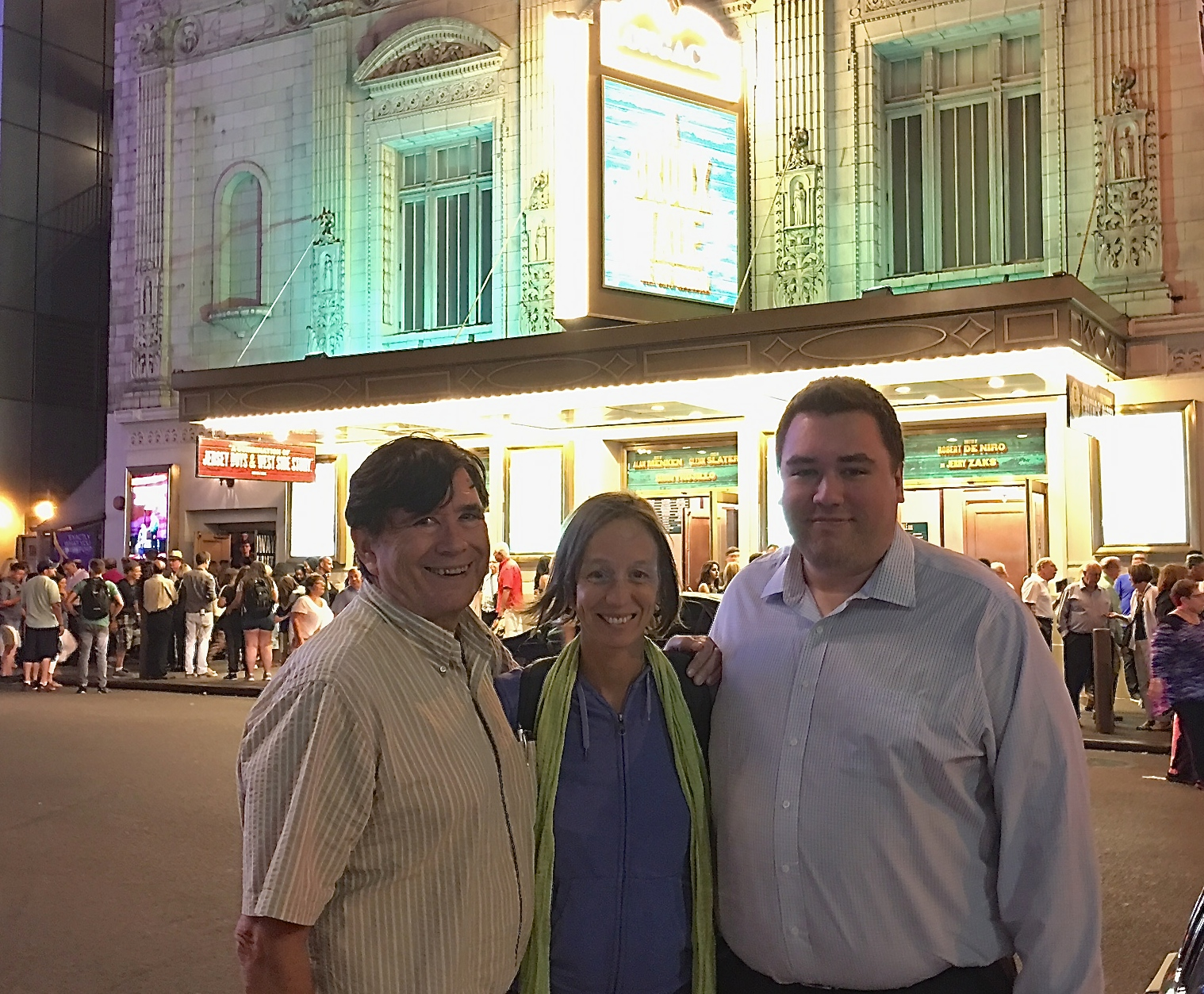 John, Ana, & Greg outside of the play THE BRONX TALE