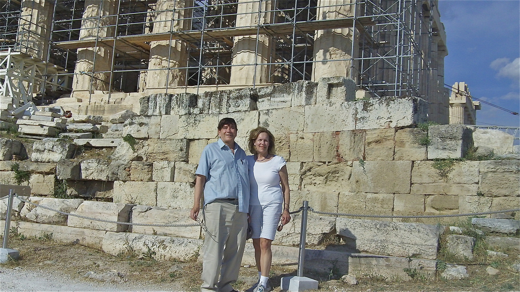 John & Lorraine at the Parthenon, center of Western thought and civilization !
