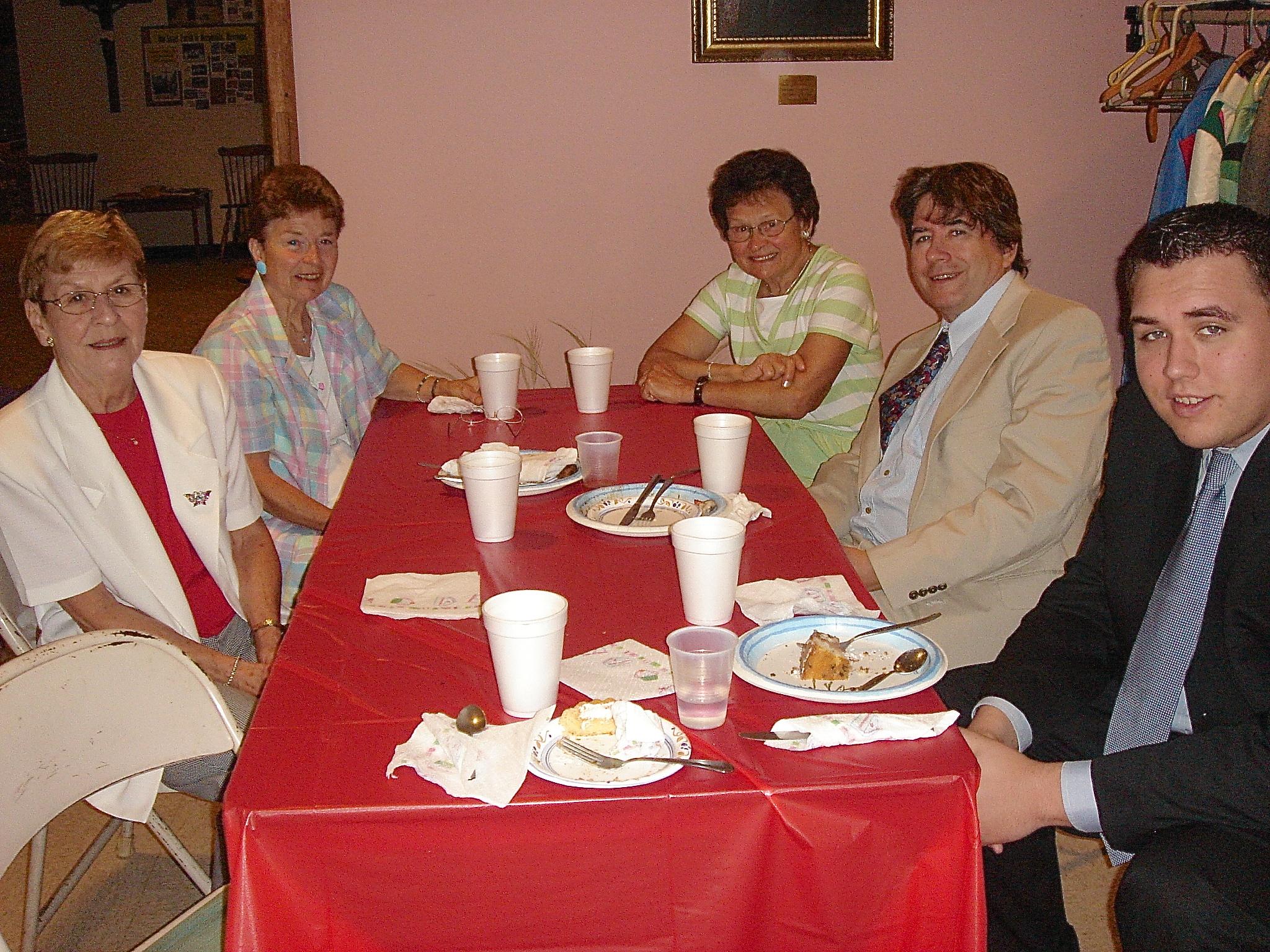 2007 near Albany, NY Margaret Doerr, Mary Ann, Dorothy, John & Greg Wagner, at Helen's husband's funeral, 2005?