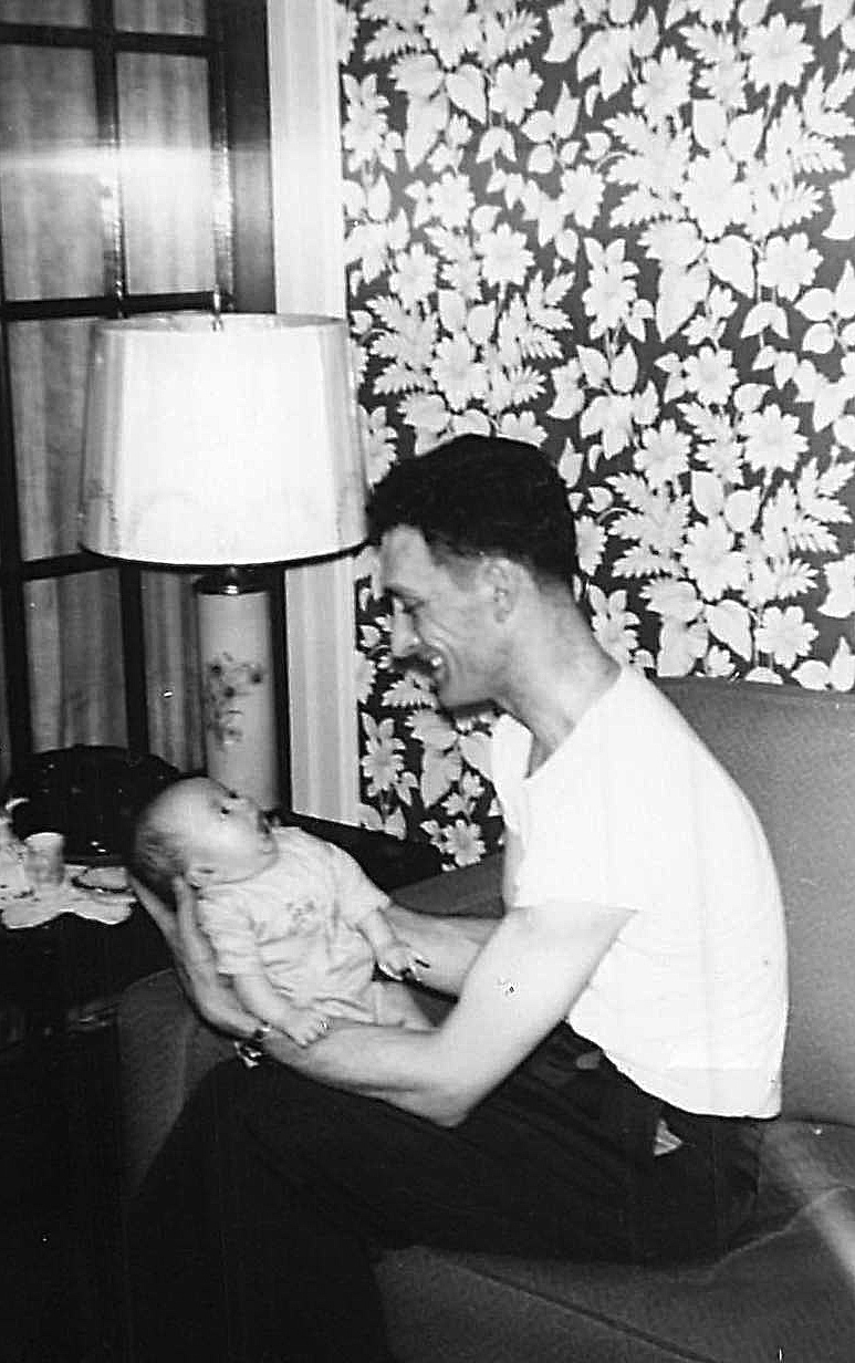 John as a baby with his dad, John  1948