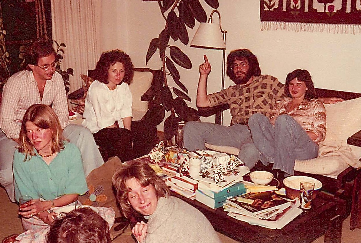 1978 party, Amy, Jessica & her husband, Barry Gumbiner & Friend, Leslie Spector