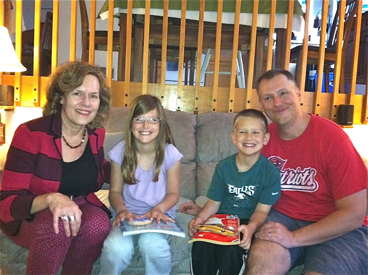 Lorraine, Reagen, 10, Braden, 6, and Jim McCann, May 11, 2013 Colorado