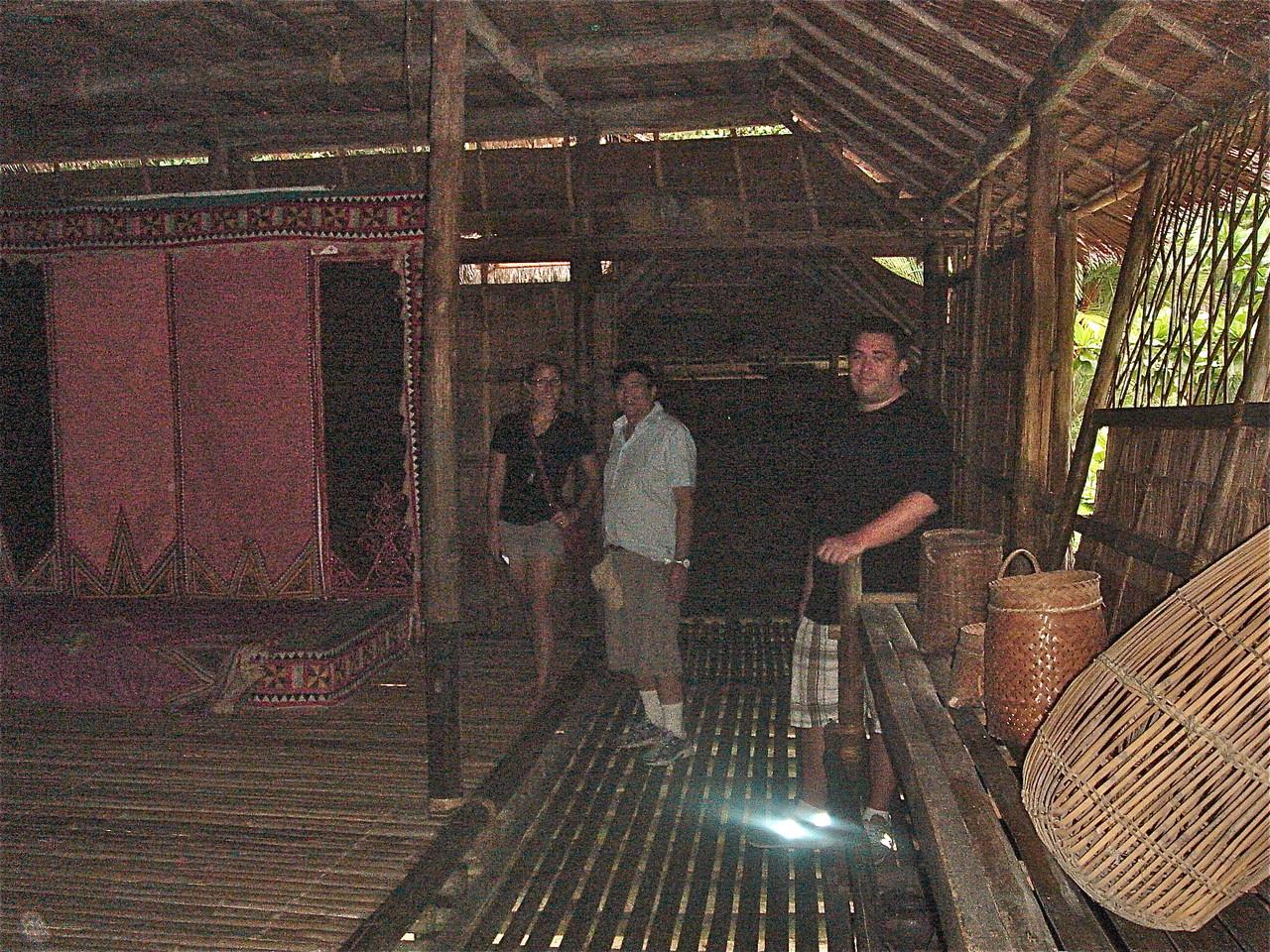 Bajau tribe home, Emily, John & Greg