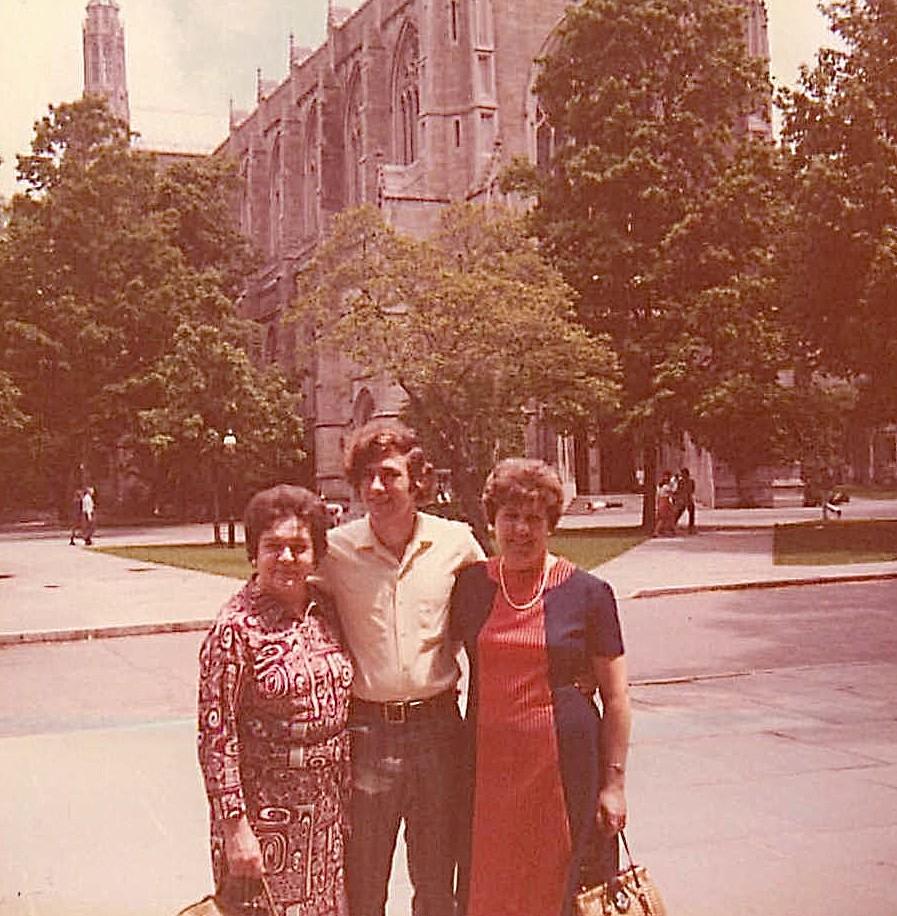 Mayme Bogden Baldyga, John Wagner, Eleanor Gudas, Princeton Campus, 1972