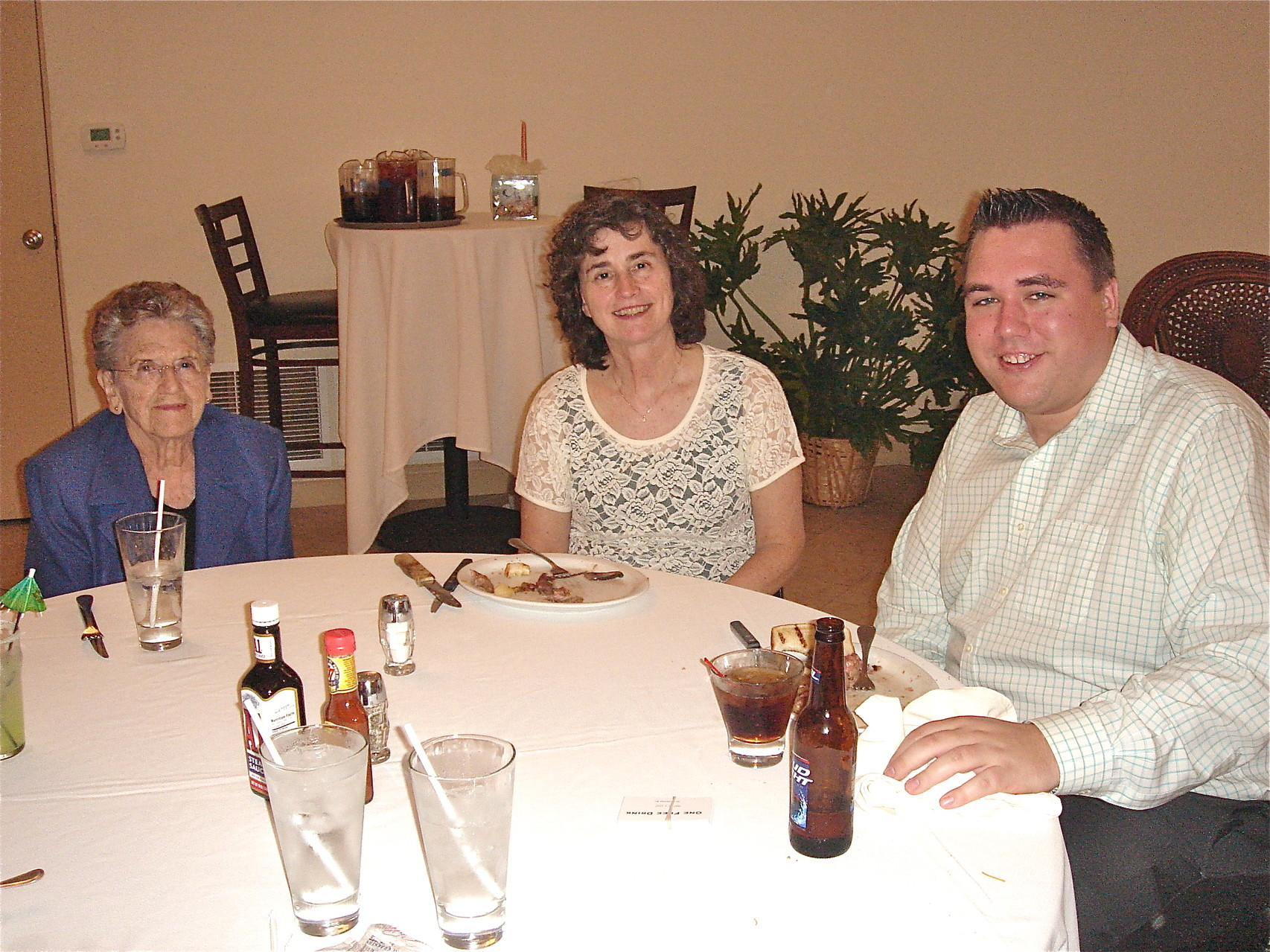Rehearsal Dinner: Mary Lou, Ann, & Greg