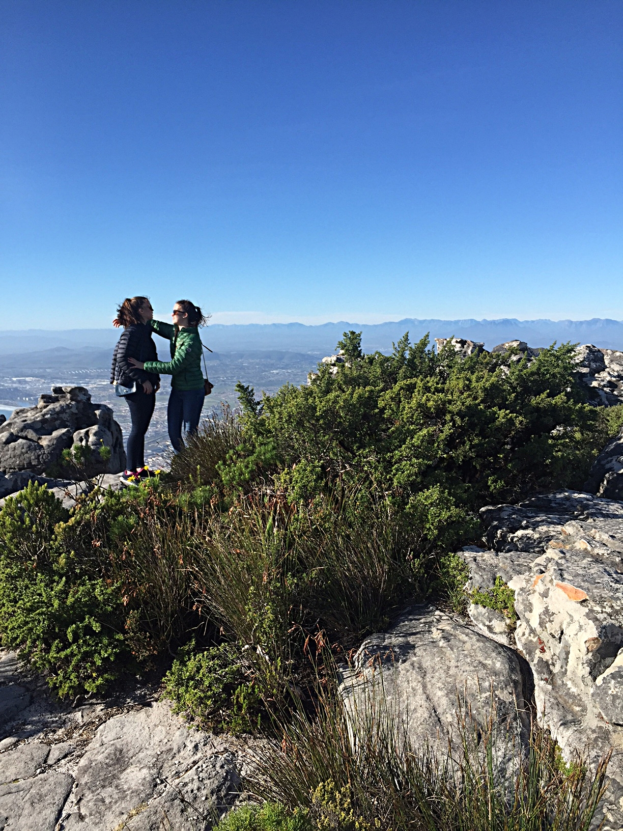 Kate & Ellie on Table Mountain, South Africa, June, 2016