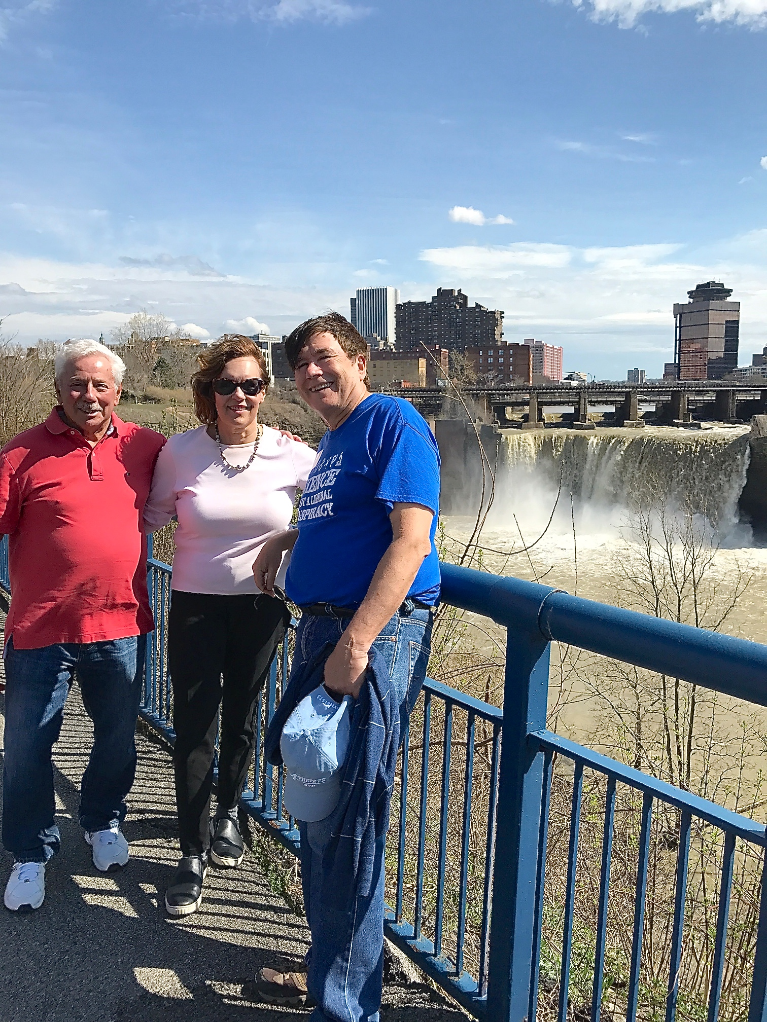 Don, Lorraine & John Rochester NY April 16, 2017 (Easter) High Falls