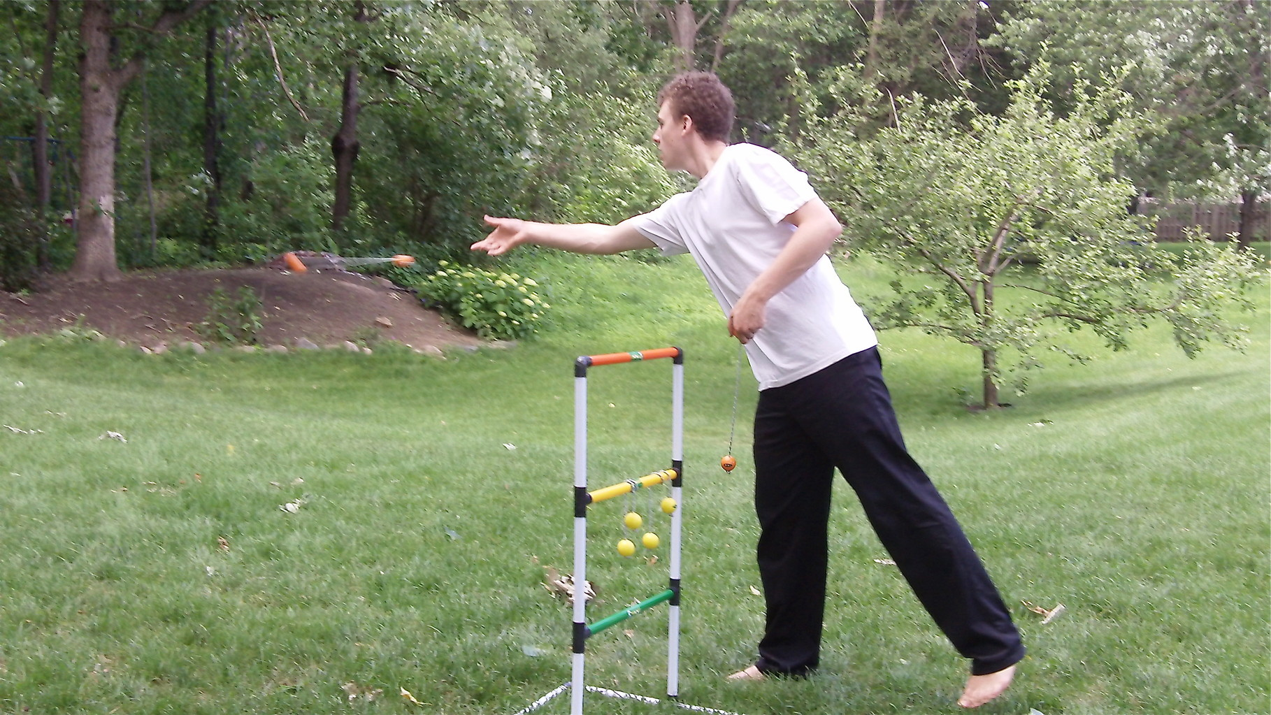 Ben Ackerman throws..