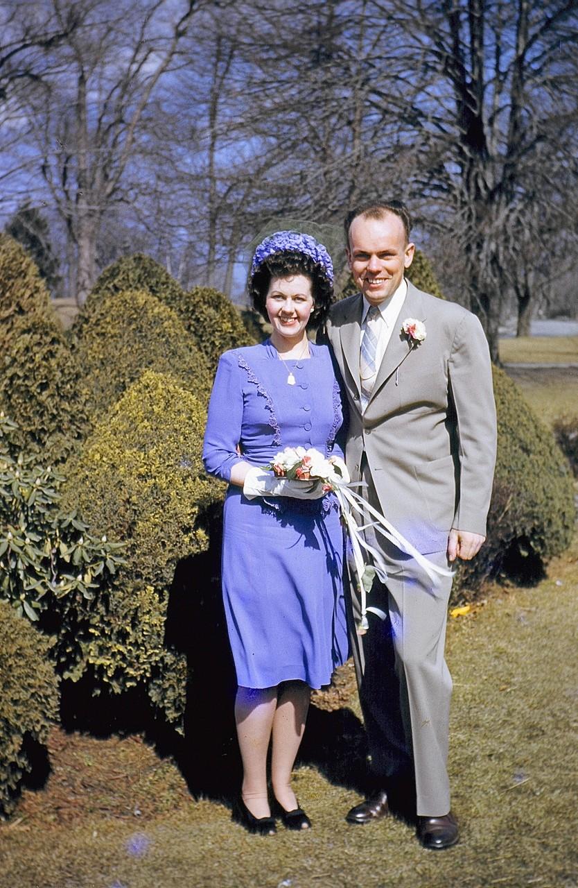 Helen (Jay Gudas' wife) & Albert Gudas, ~1945