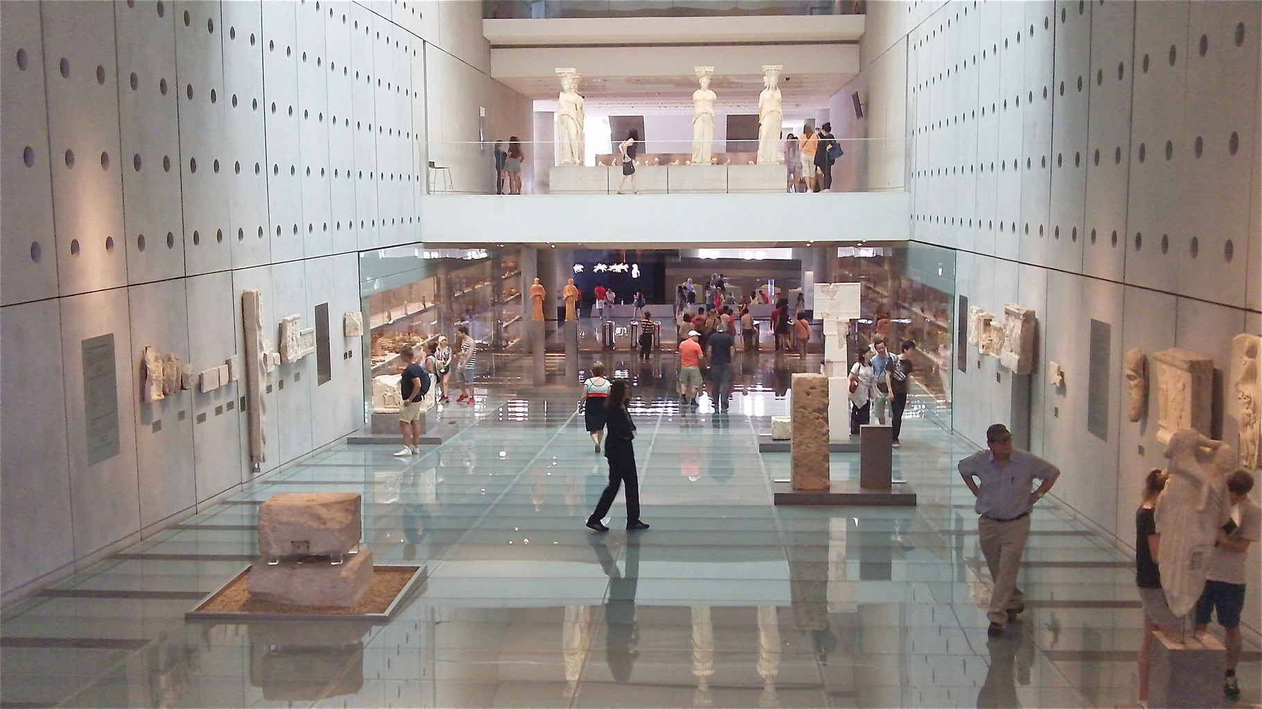 The Acropolis Museum, Athens, John to the right