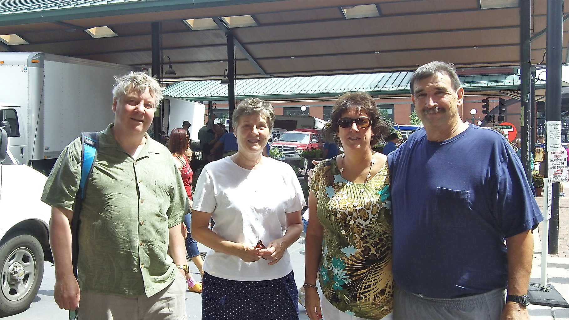 John Ackerman, Cindy Wagner, Jill & Paul Wagner, Farmer's Market